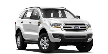 White Ford SUV